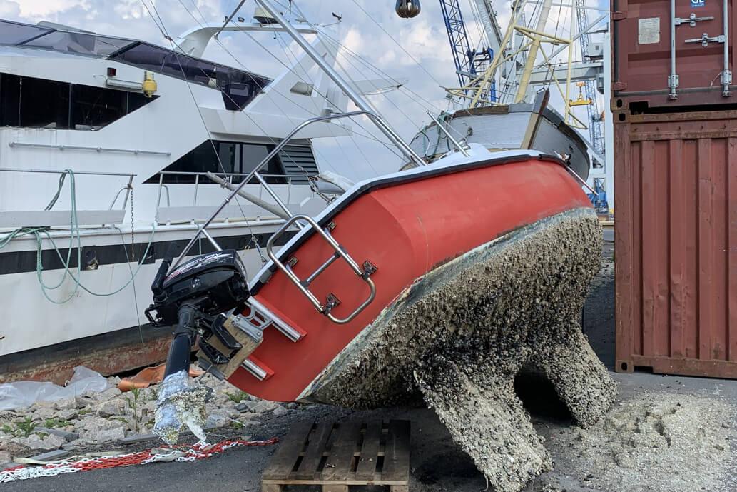 Båtvrak skaper problemer for Borg Havn